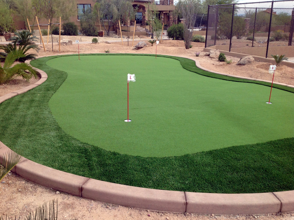 Fake Grass Decatur, Texas Putting Green Turf, Backyard Design