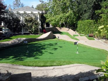 Artificial Grass Photos: Fake Lawn Sansom Park, Texas Home Putting Green, Backyard Landscaping