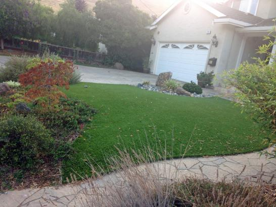 Artificial Grass Photos: Grass Installation Oak Trail Shores, Texas Landscape Design, Front Yard Design